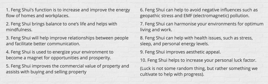 reasons for using feng shui in Austin property