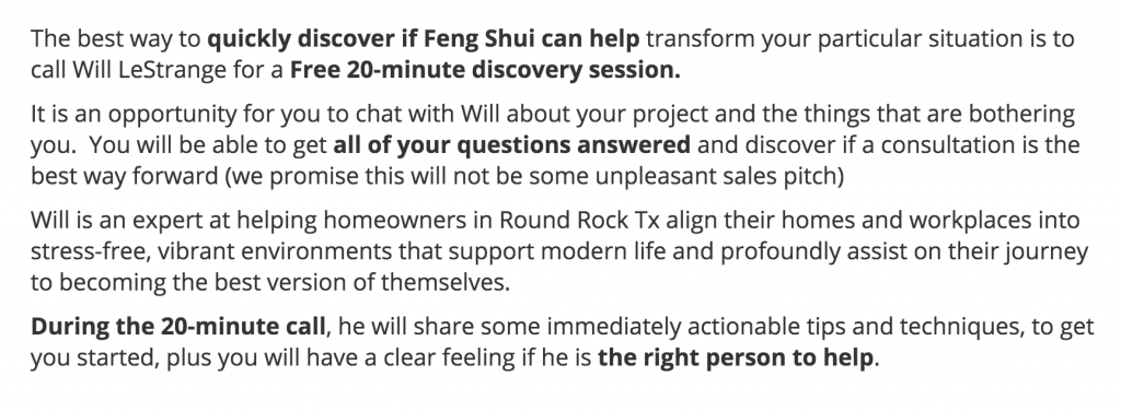 round-rock-20-minute Feng Shui Consultation